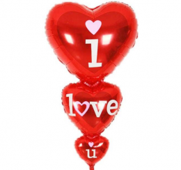 Olyo Balon 3lü Kalp I Love You 45X86 cm